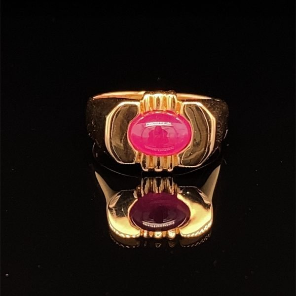 Ruby  cabachon ring