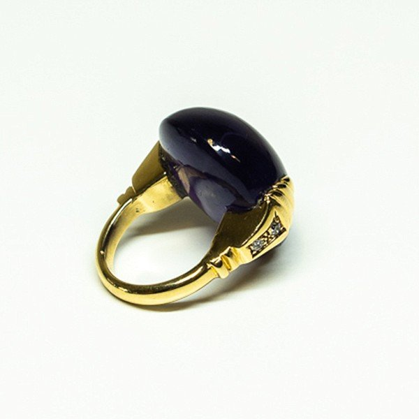 Amethyst 1970s Statement Ring