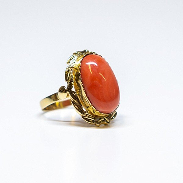 Coral dress ring