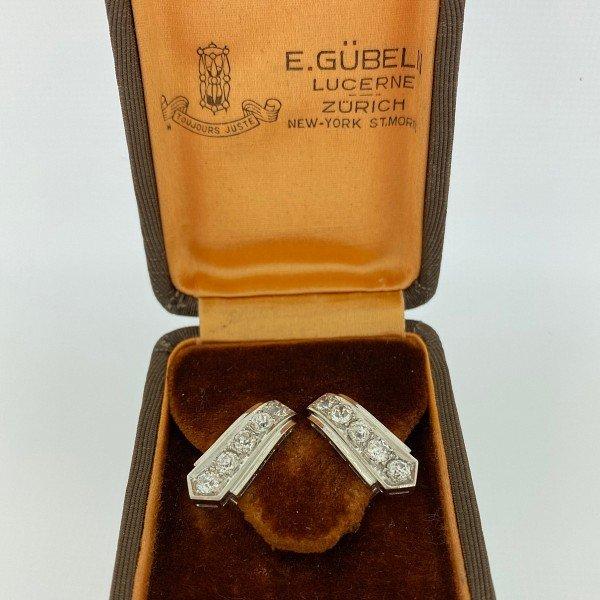 E Gubelin, Lucerne, Art Deco Earrings
