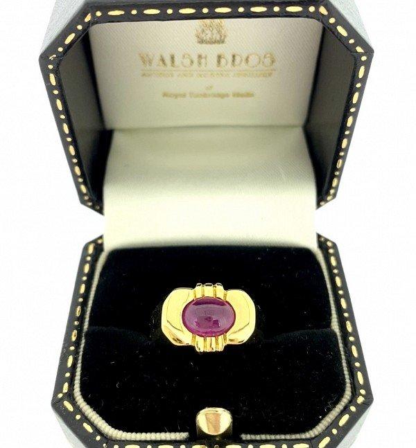 Ruby  cabachon ring