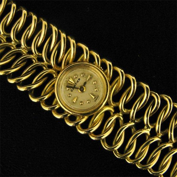 Ladies Cartier 1958 18ct evening watch
