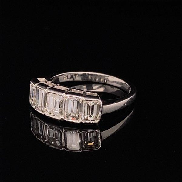 Five stone diamond set ring
