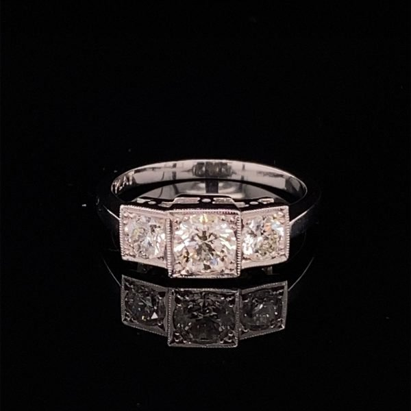 Five stone diamond set ring