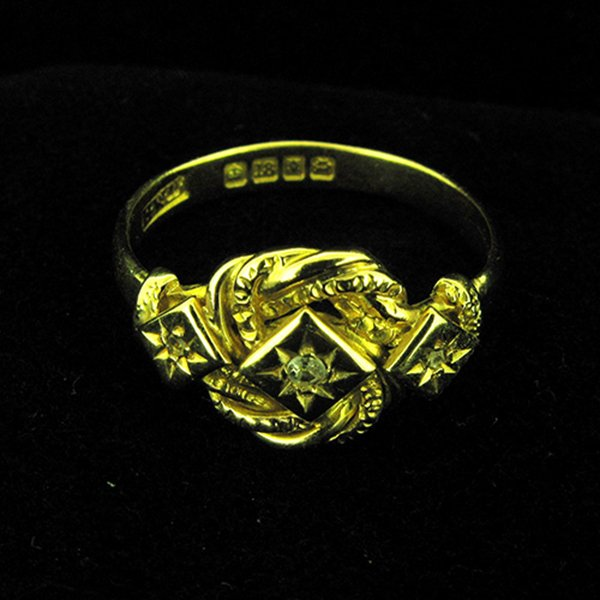 Victorian Lovers Knot Ring