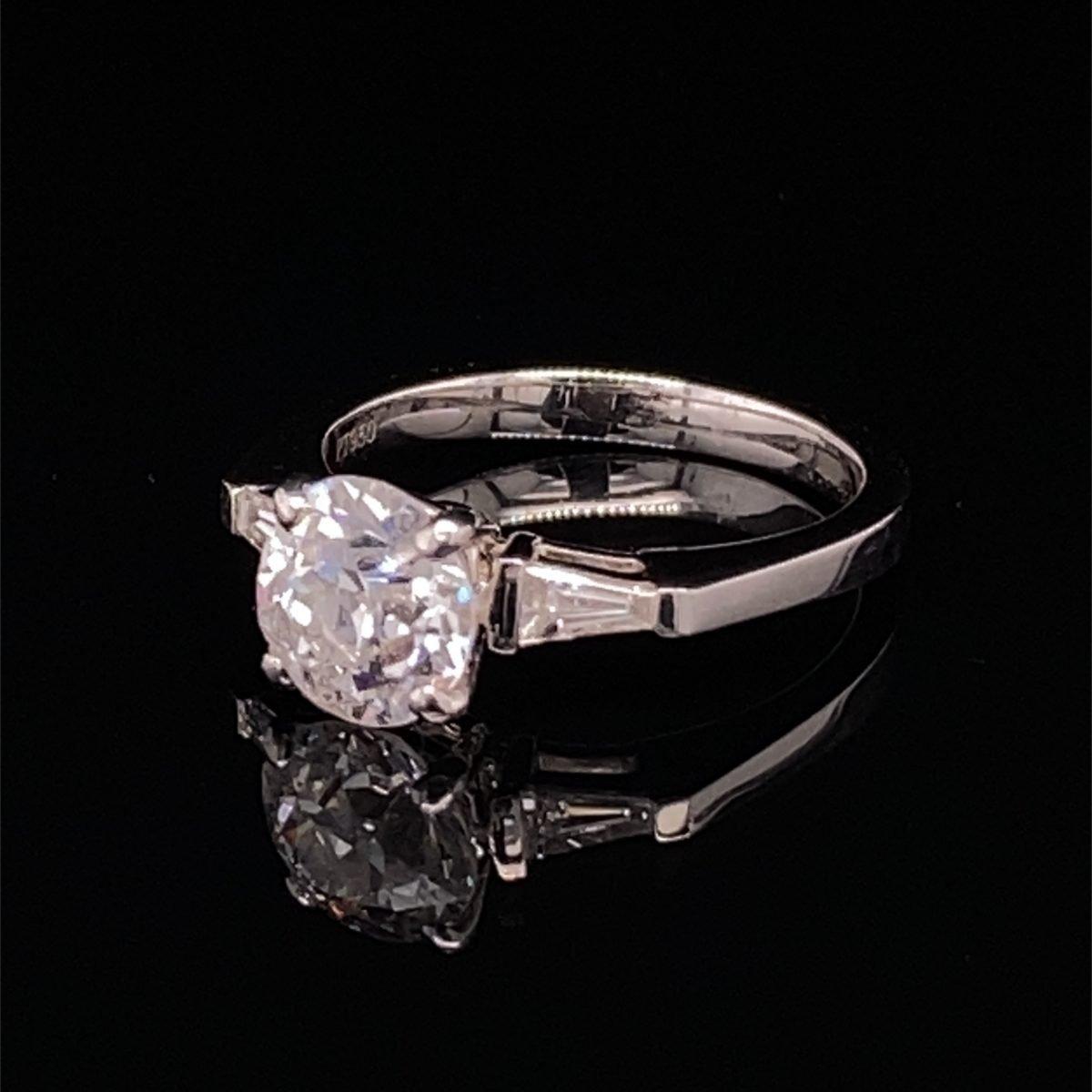 Art Deco diamond three stone ring