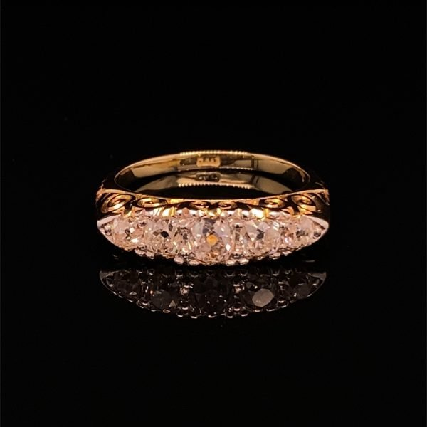 Victorian five stone 'boat' ring