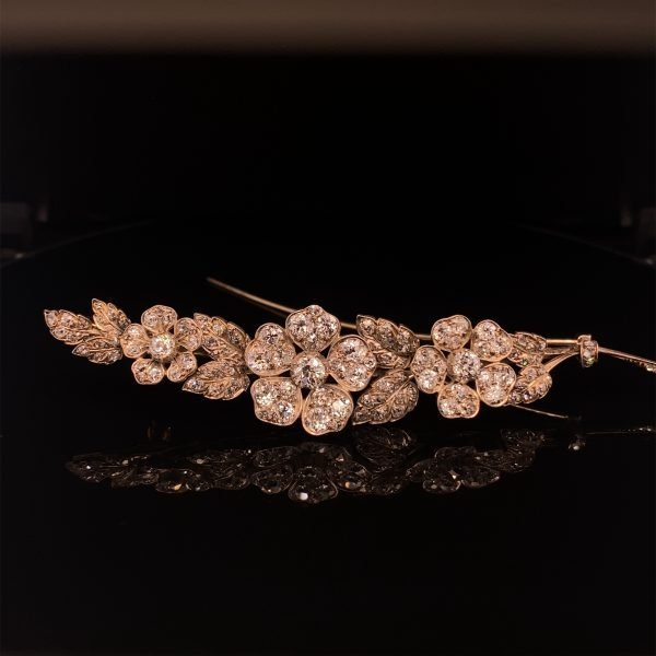 Georgian diamond flower brooch