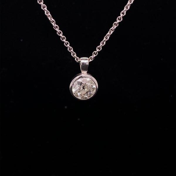 Diamond old cut 1.10cts pendant