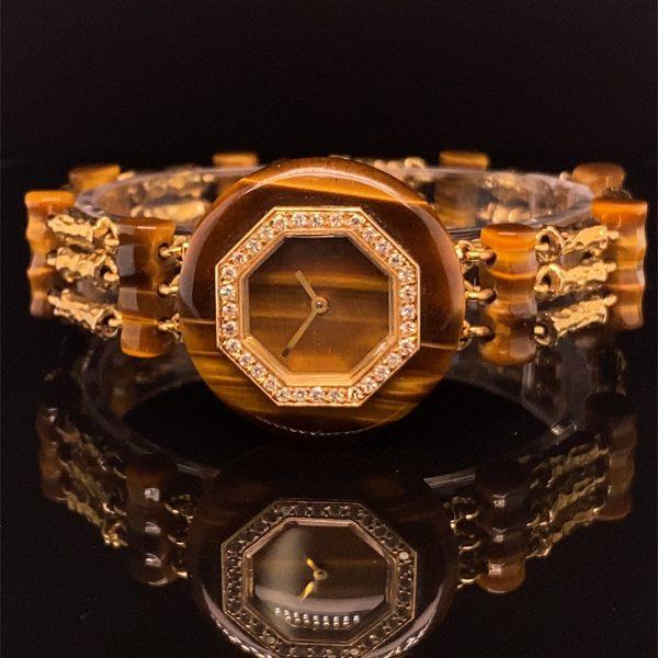 Boucheron tigers eye ladies wrist watch