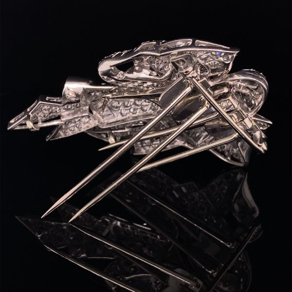 Art Deco double clip and brooch