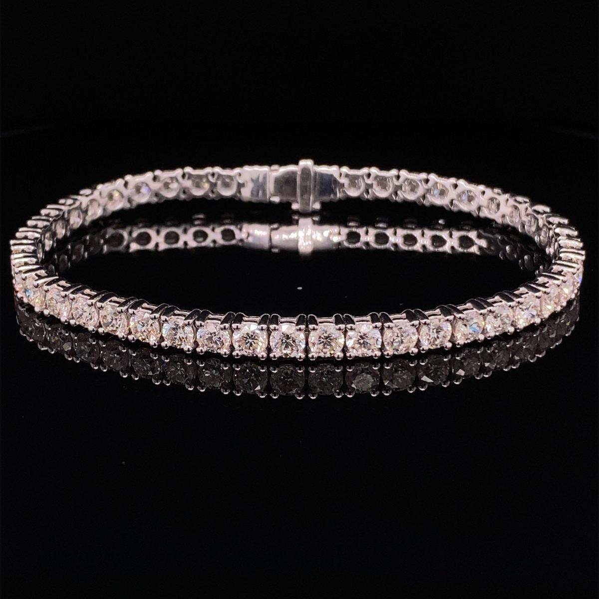 Diamond line bracelet 9.00cts