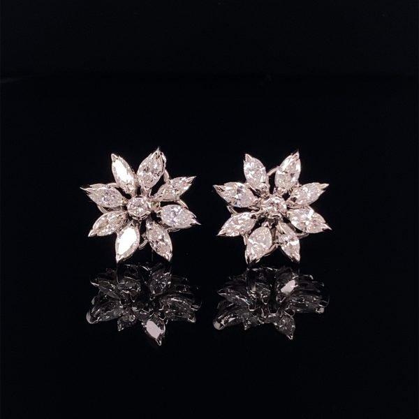 Asprey 'Daisy' stud earrings