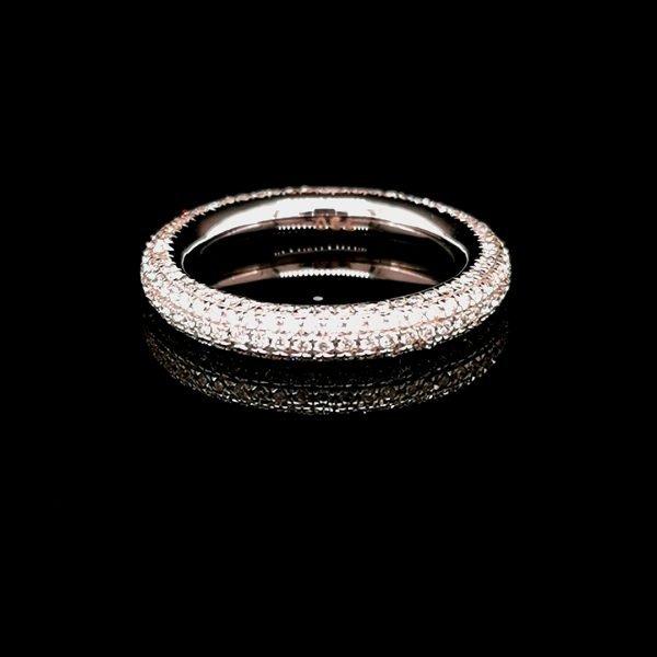Diamond pave set full eternity ring