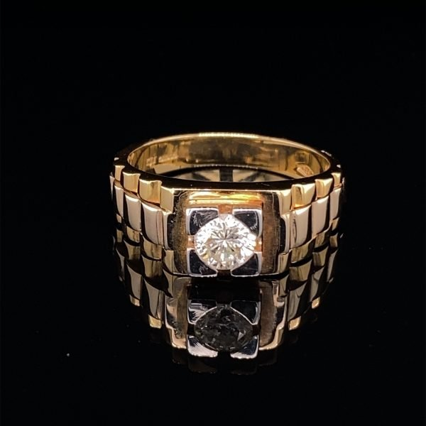Gents diamond set ring