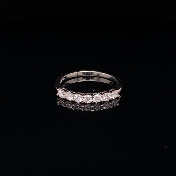 Diamond seven stone, half eternity ring
