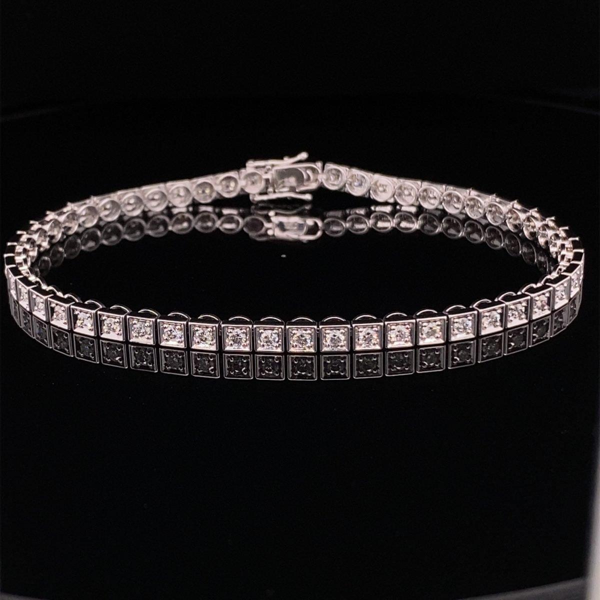 Diamond line bracelet