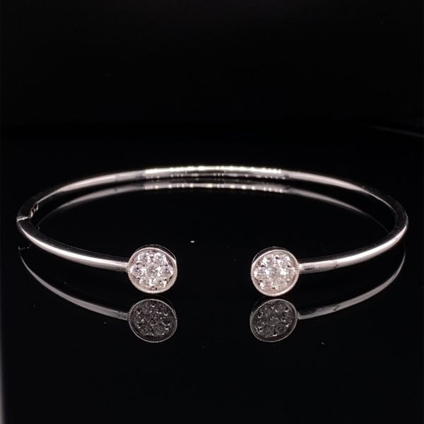 Diamond detail bangle