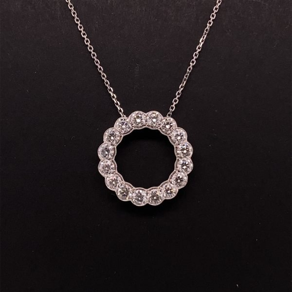 Diamond 'Circle of Life' pendant and chain