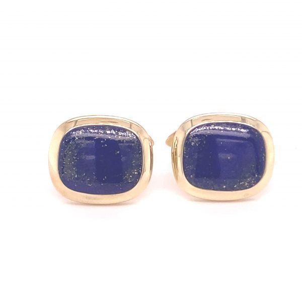 Lapis Lazuli cushion cabochon cufflinks