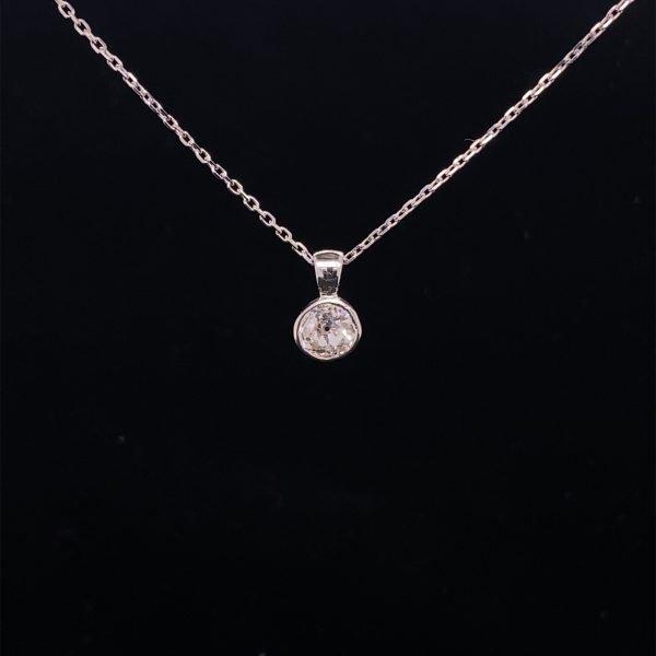 Diamond 0.56cts old cut pendant