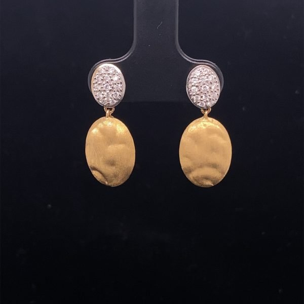 Marco Bicego 'Siviglia' diamond drop earrings