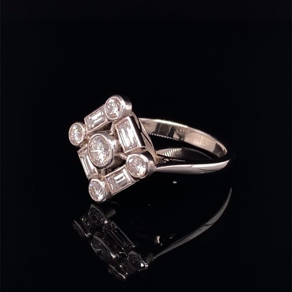 Diamond Art Deco style ring