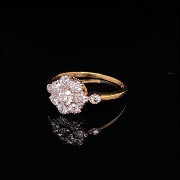 Diamond 'flower' set ring
