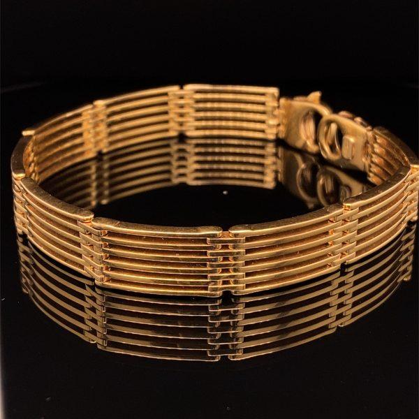 Six row gate bracelet