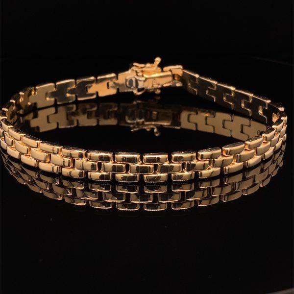 Three row brick bracelet