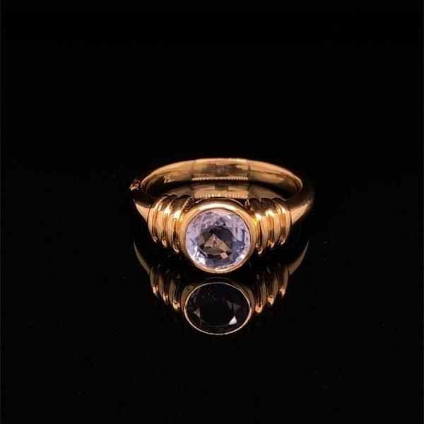 Sapphire single stone ring