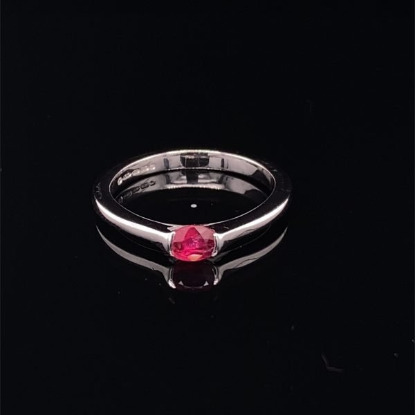 Ruby single stone ring