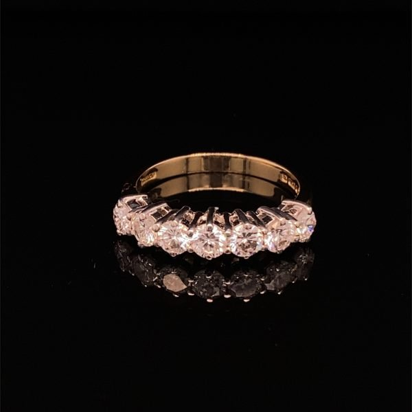 Diamond seven stone ring