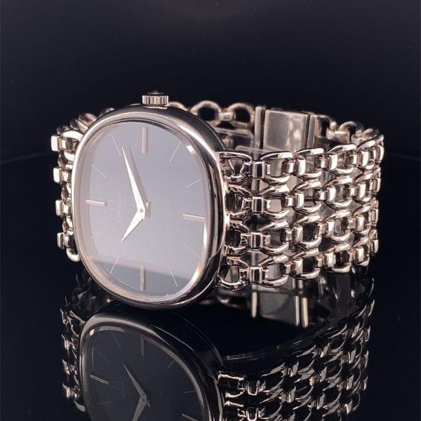 Omega, silver bracelet watch