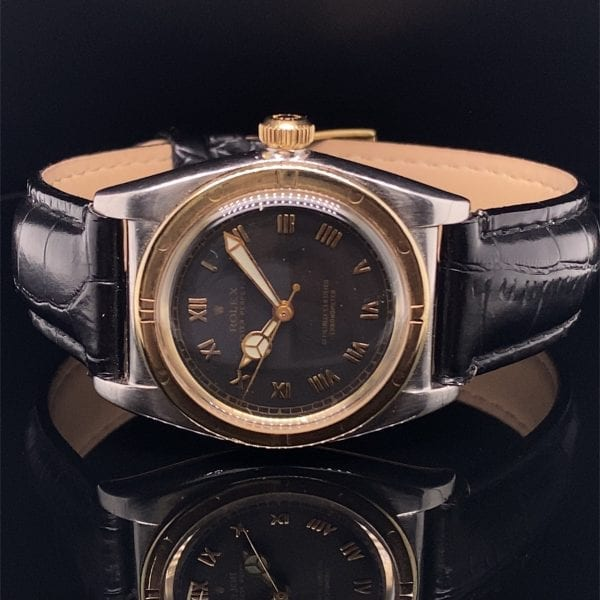Rolex oyster Bubble back strap watch