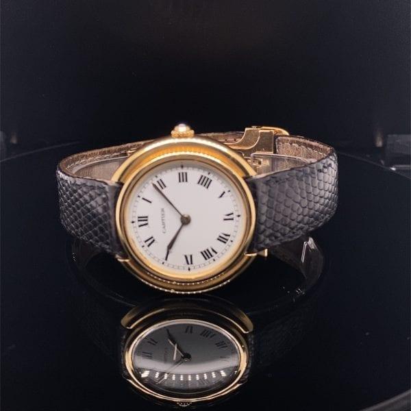 18ct Cartier Cintree strap watch