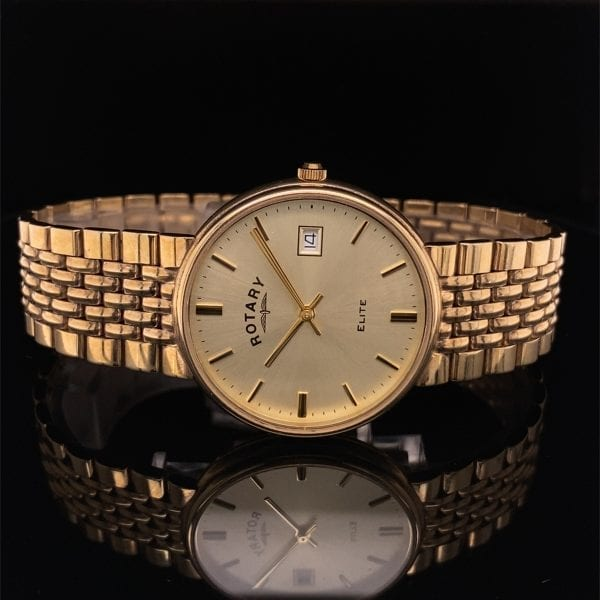 9ct gold Rotary bracelet watch
