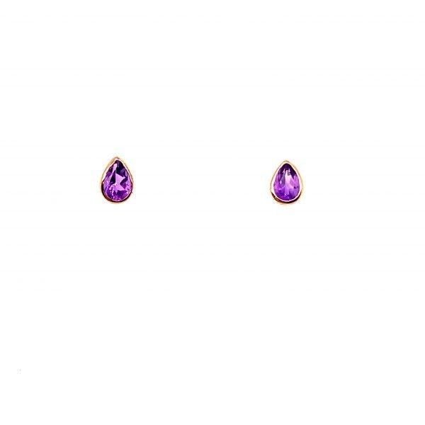Amethyst pear shaped earrings