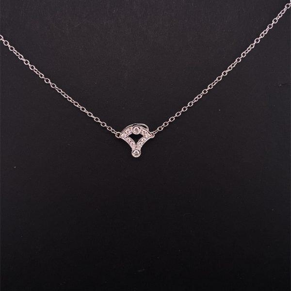 Art Deco style onyx and diamond necklet