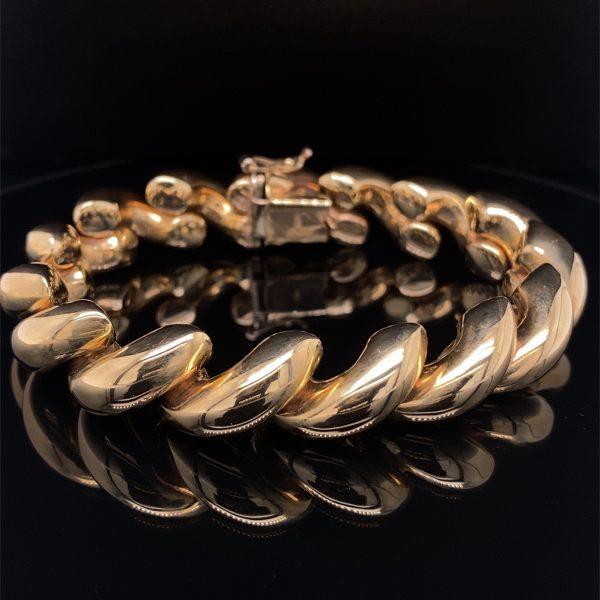 Gold 'San Marco' twist design bracelet