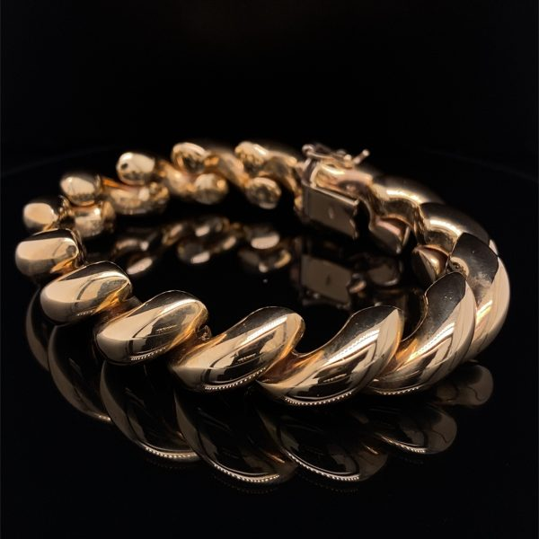 Gold 'San Marco' twist design bracelet
