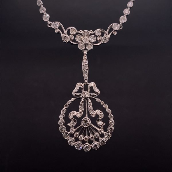 Vintage, Belle Epoque style diamond set necklet