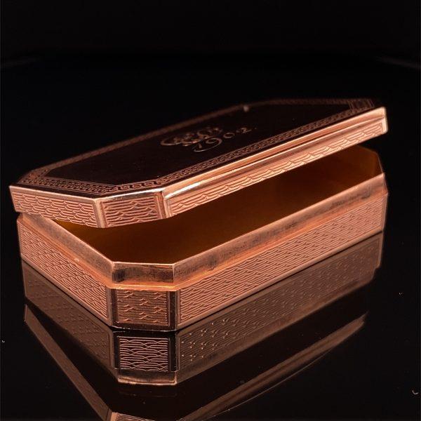 Edwardian rose gold pill box