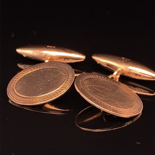 Edwardian rose gold cufflinks