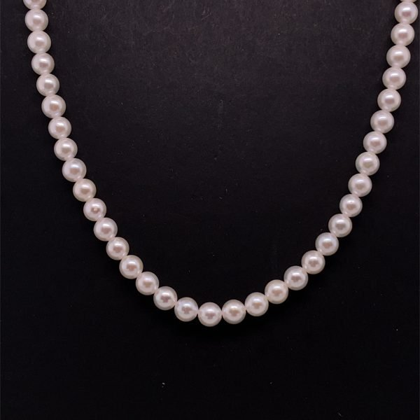 Cultured row of pearls