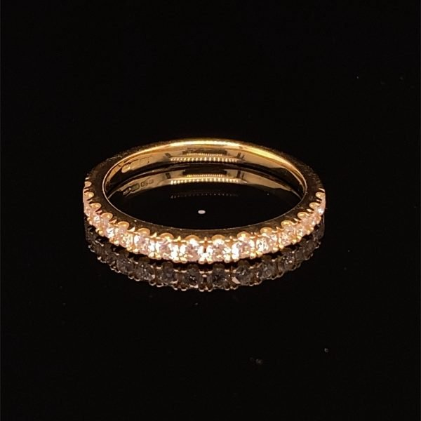 Diamond set half eternity ring / wedding band