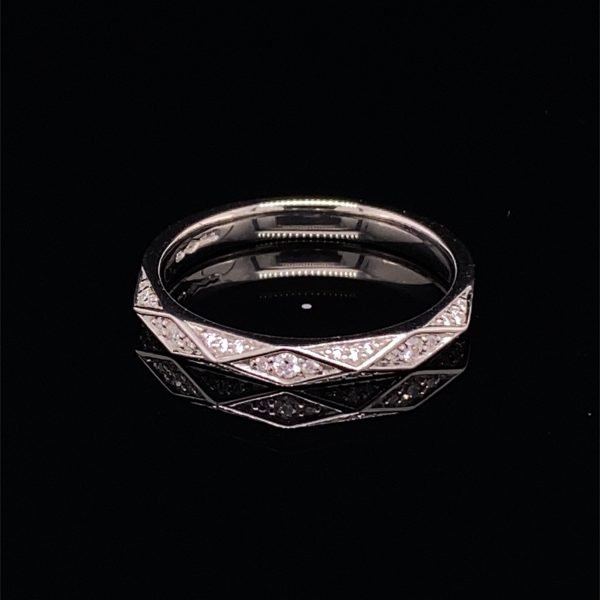 Diamond set, half eternity ring / wedding band