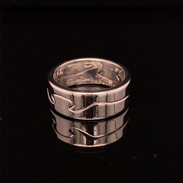 Georg Jensen 'Fusion ring' in 18k white gold