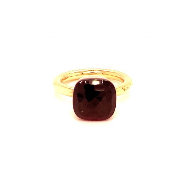Pomellato garnet and 18K rose gold 'Nudo' ring