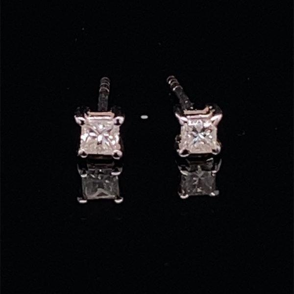 Princess cut diamond stud earrings